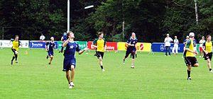 Finales del Ultimate Frisbee entre EE.UU. y Australia Juegos Mundiales de 2005 en Duisburgo, Alemania.
